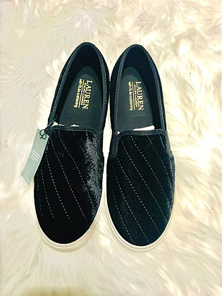 Quilted Velvet Ralph Lauren Slip On Shoe
