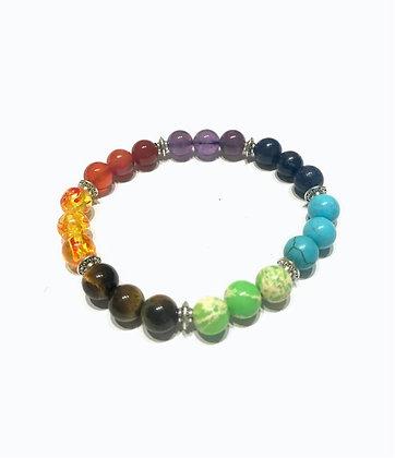 Semi-Precious Stone bracelet, Chakra Energy Healing Bracelet