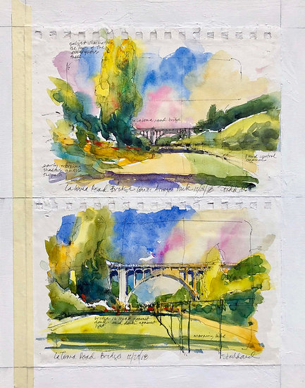 La Loma Road Bridge, Two Views