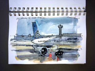 Sketching at the Airport