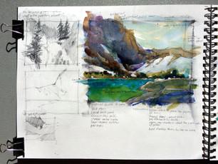 Watercolor Workshop at Brea Gallery