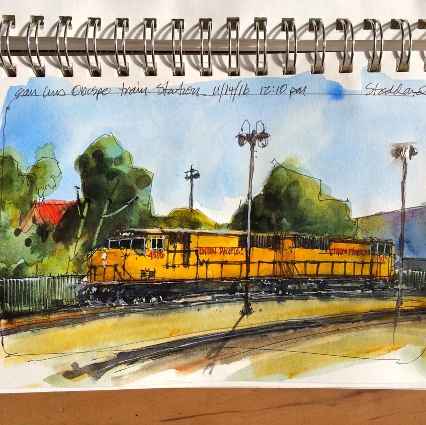10 Idling locomotives