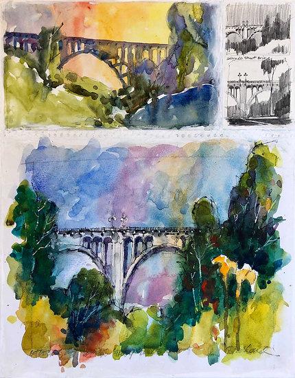 Colorado Street Bridge Collage