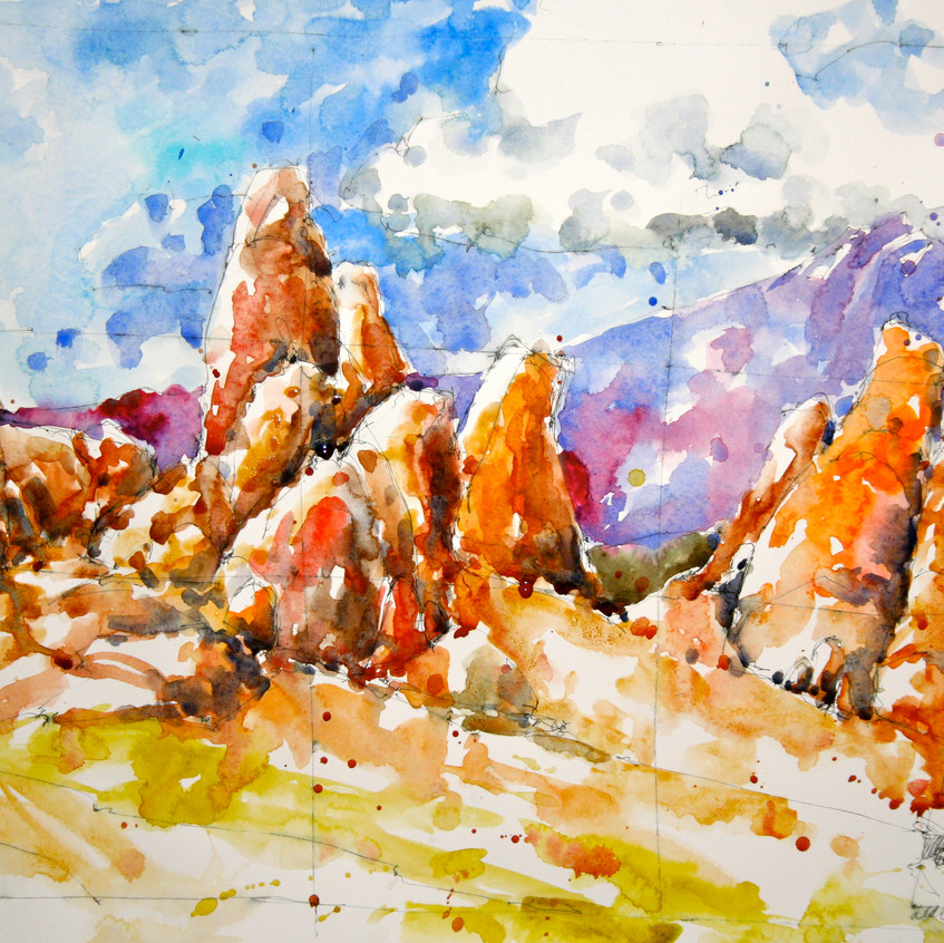 """The final painting: 14"""" x 20"""", Arches hot press 140# paper."""