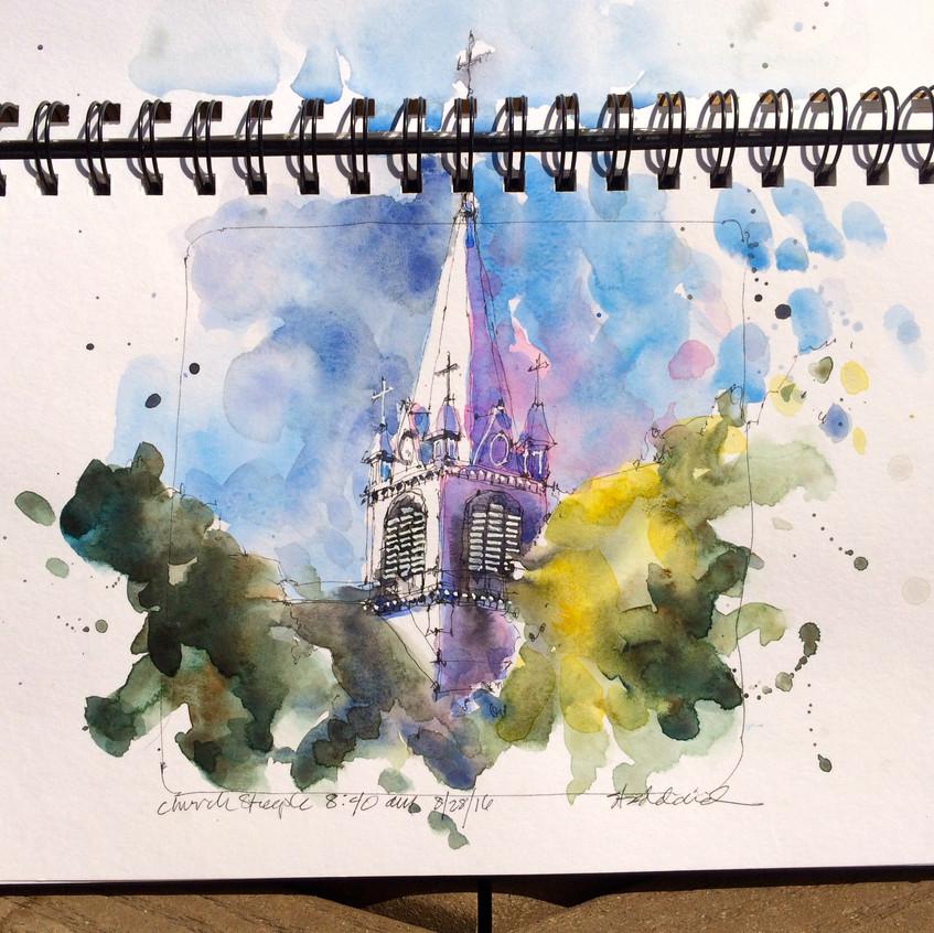 10 church steeple