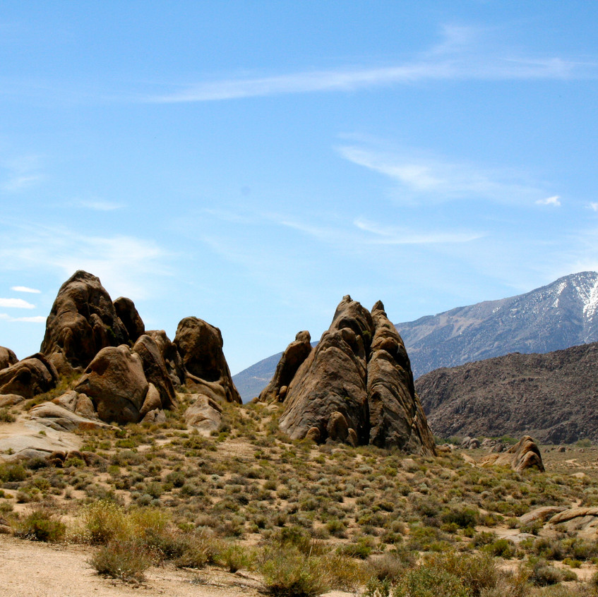 The dramatic rock formations of the Alabama Hills.