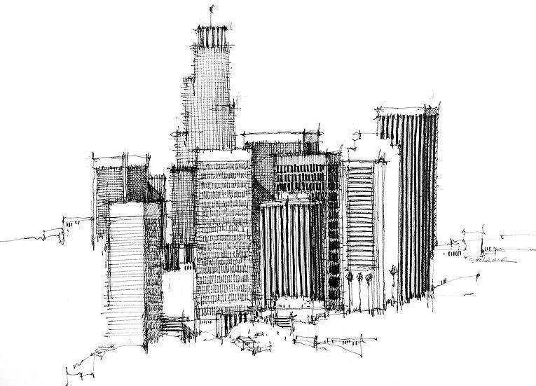 Los Angeles Pen Sketch