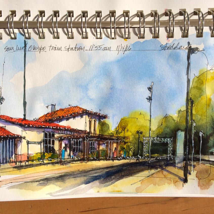09 SLO station, Monday late morning