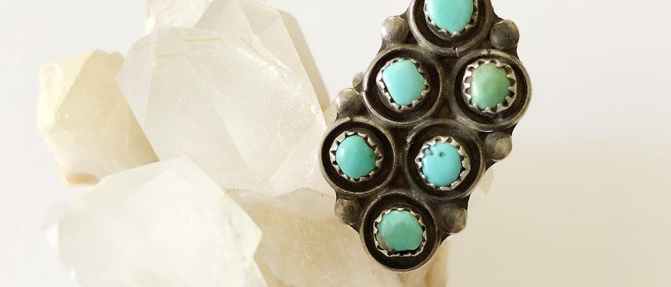 Snake Eyes Turquoise Ring