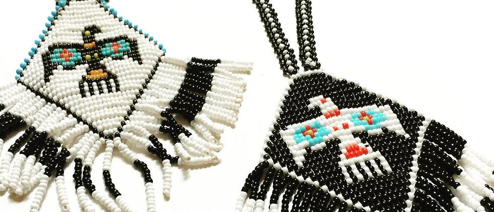 Vintage Spirit Bird Beaded Necklace