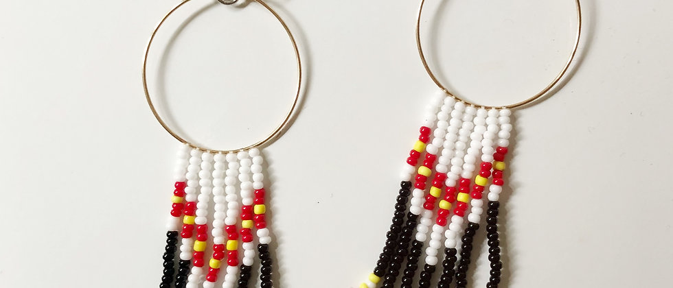 Cree Inspired Seedbead Earrings