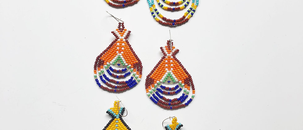 The Beaded Teepee Earrings