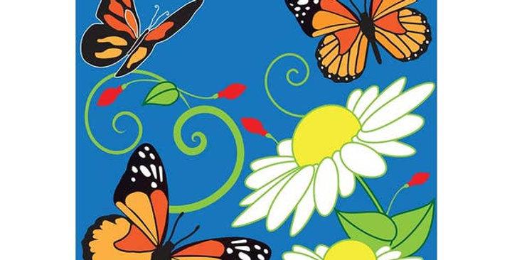 Garden Butterfly Trio Flag