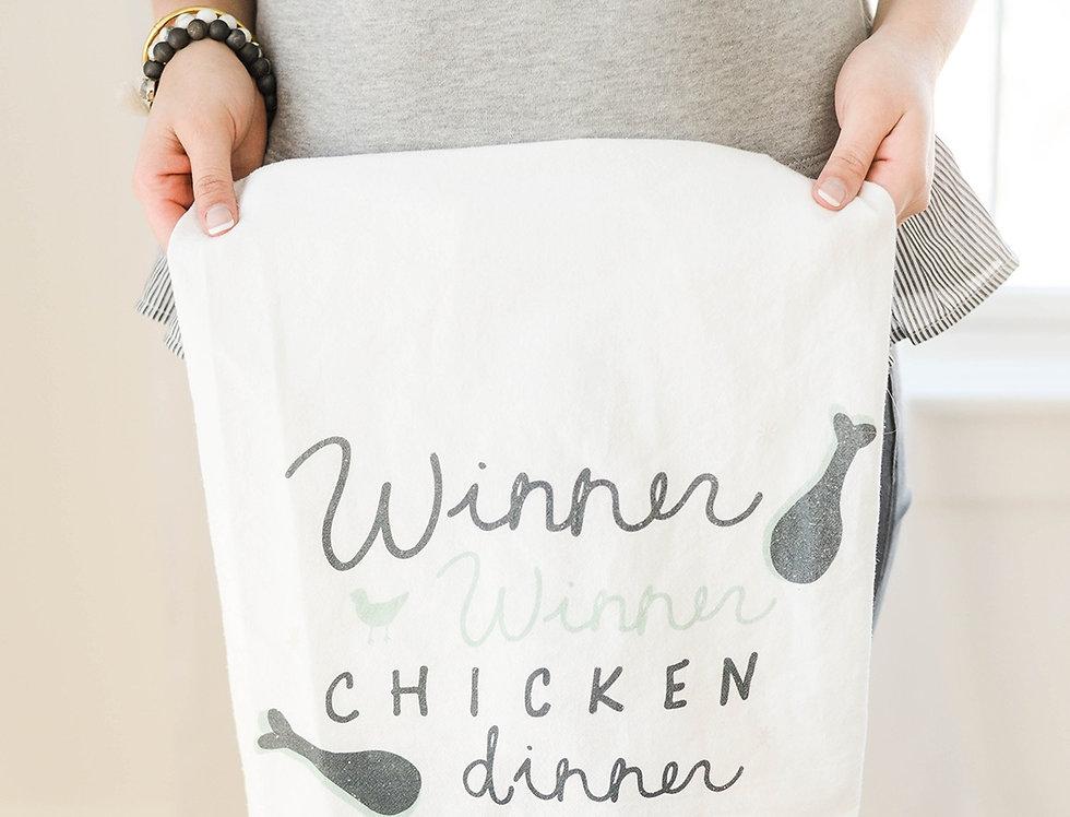 Winner Winner Chicken Dinner Flour Sack towel