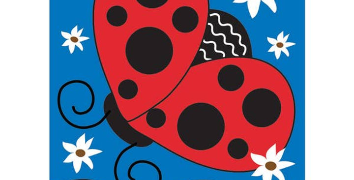 Garden Lady Bug Welcome Garden Flag