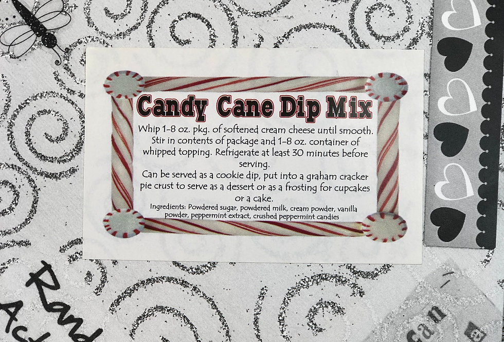 Candy Cane Dip Mix