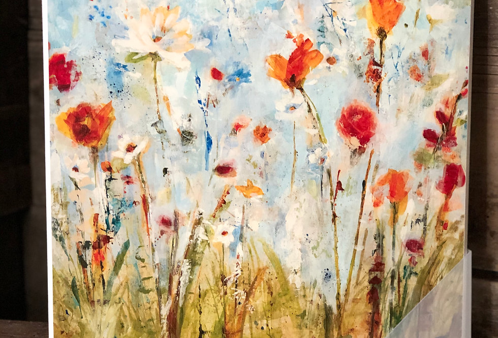 Abstract Summer Wildflowers Painting