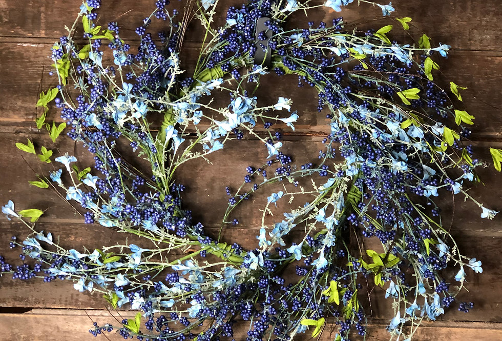 Blue Berry Wreath