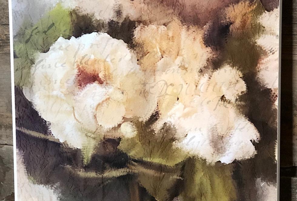 White Textural Summer Hydrangea