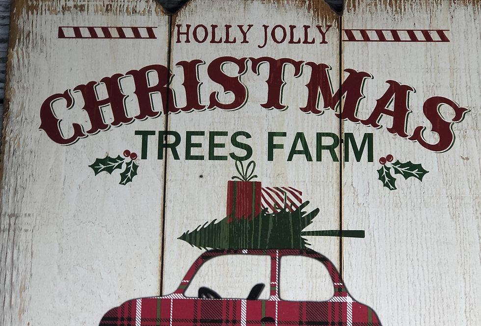 Holly Jolly Tree Farm Sign