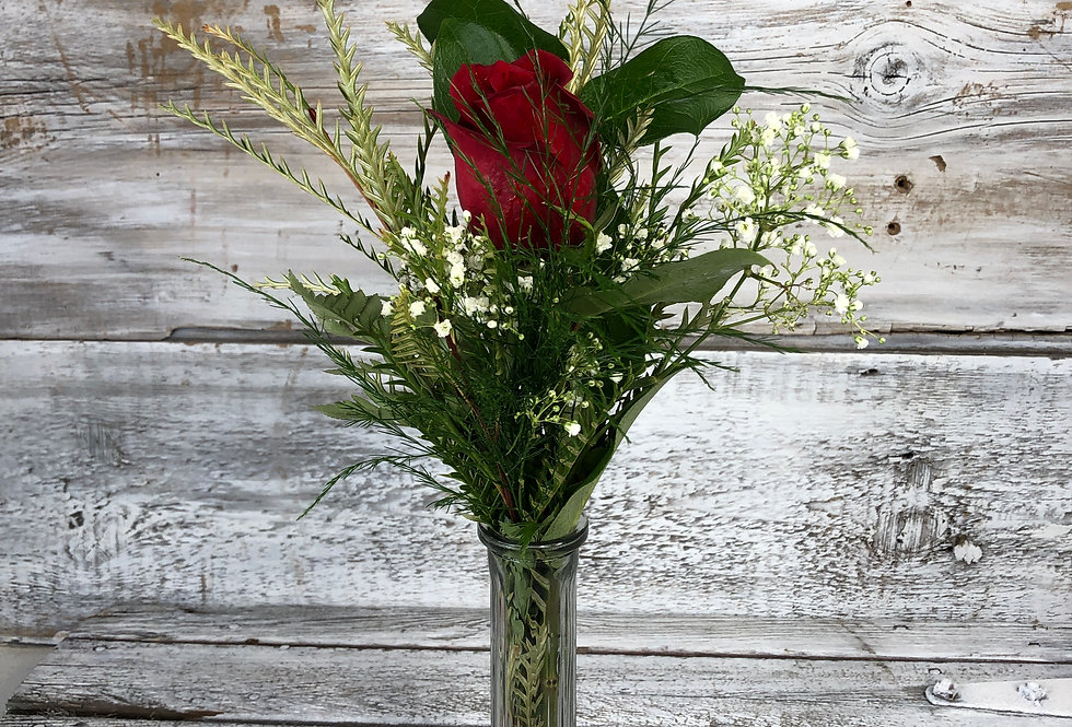 Single Rose - Bud Vase