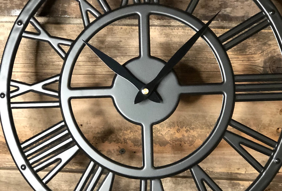 French Metal Wall Clock