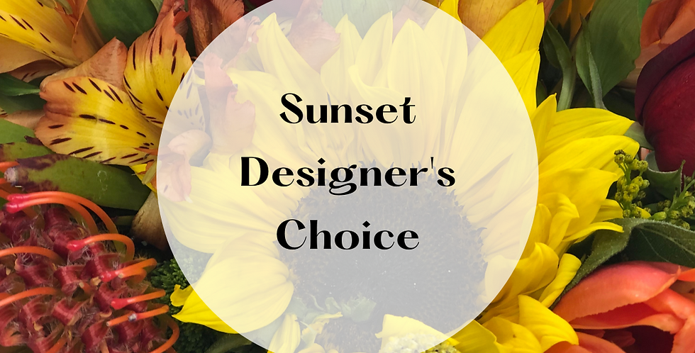 Sunset Designer's Choice Arrangement