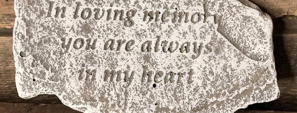 ...Always In My Heart Stone Memorial