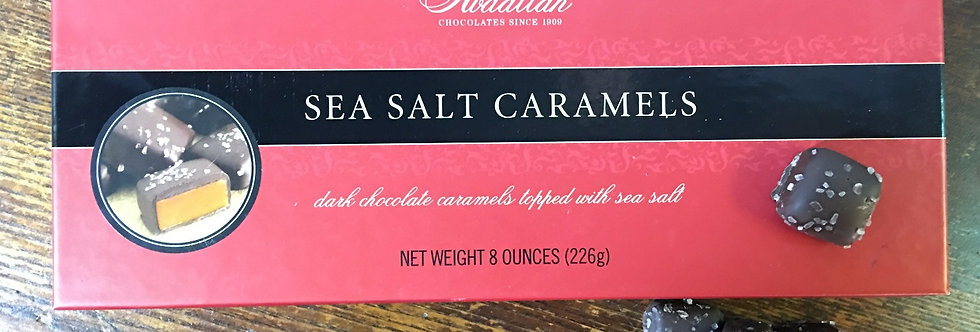 Sea Salt Caramels with Dark Chocolate
