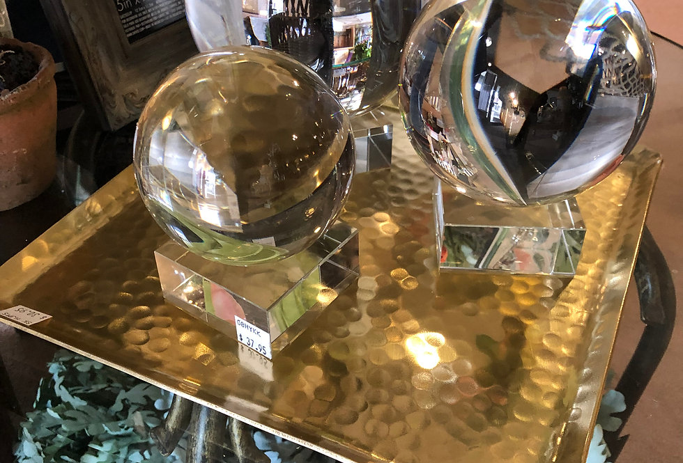 Gilded Hammered Contemporary Square Tray
