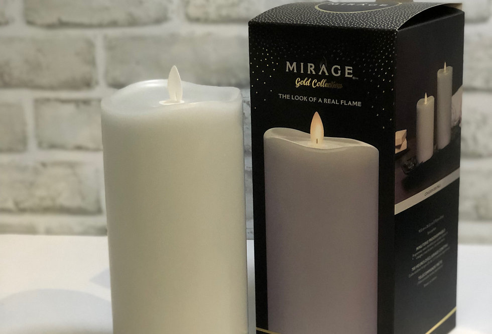 Light Gray Flameless Candle