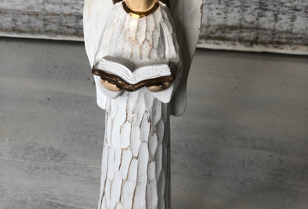 Angel with Book Figurine