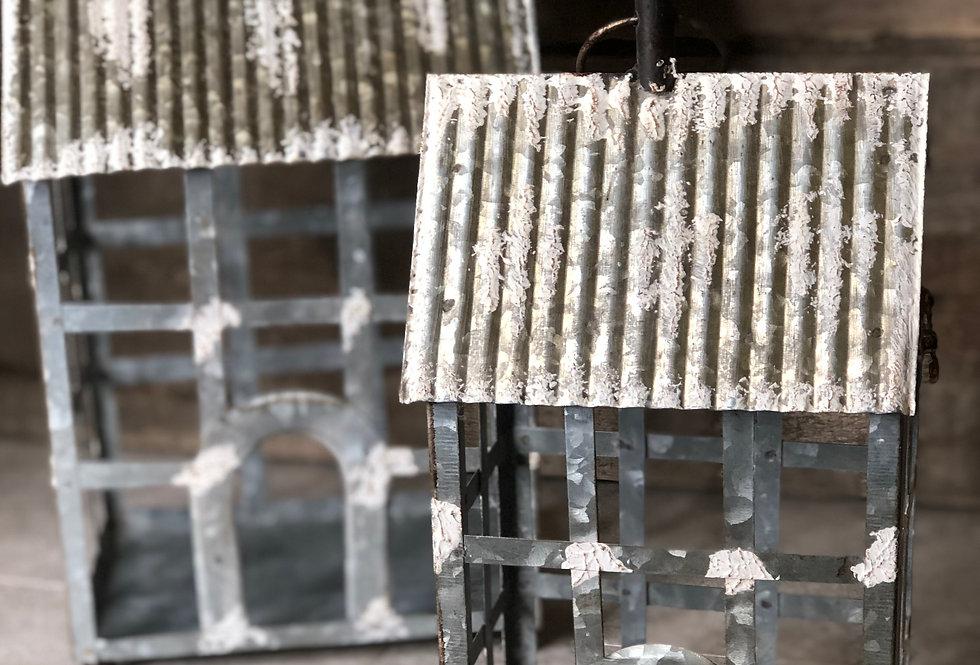 Galvanized House Lantern - Small
