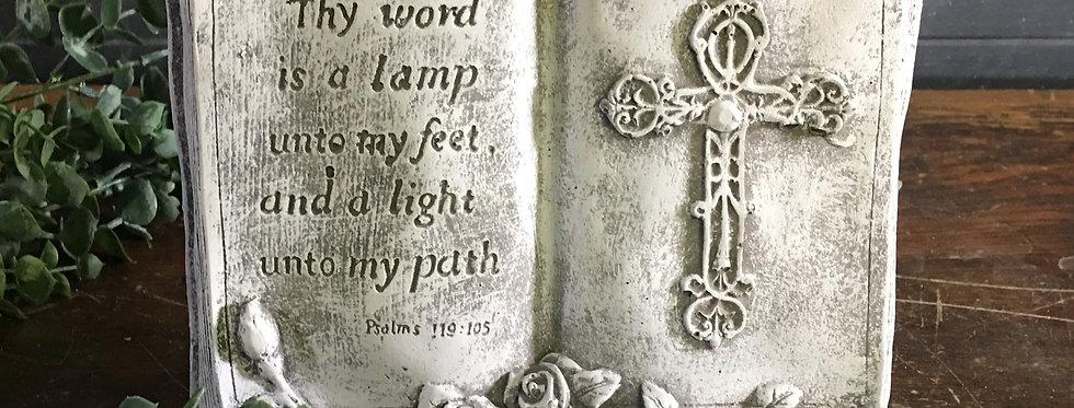 Thy Word Book Plaque