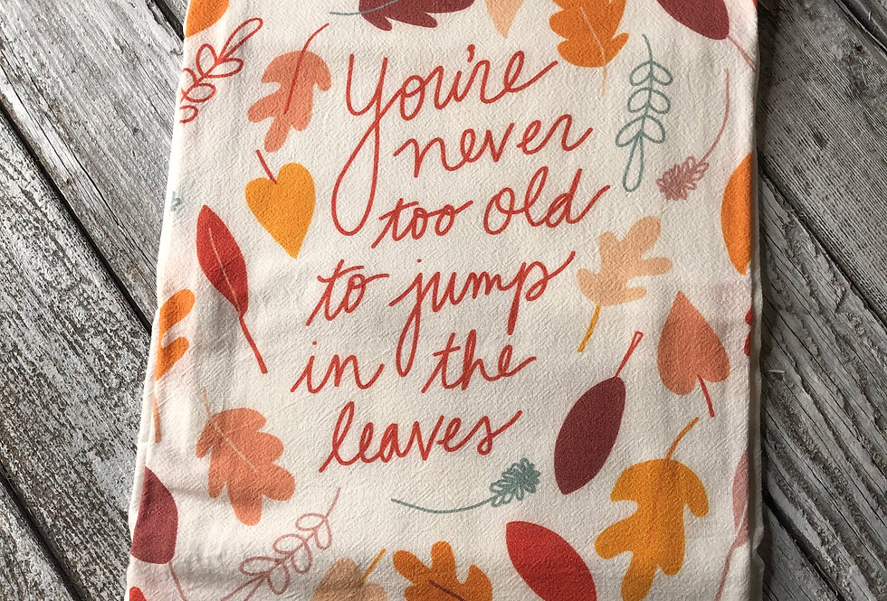Jump In The Leaves Flour Sack Towel