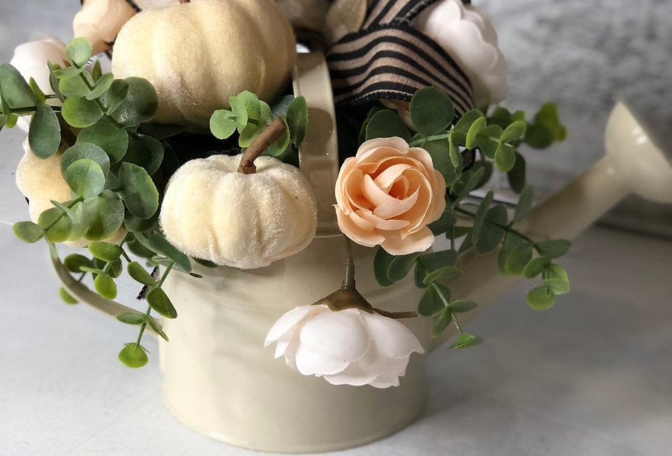 Cream Autumn Watering Can