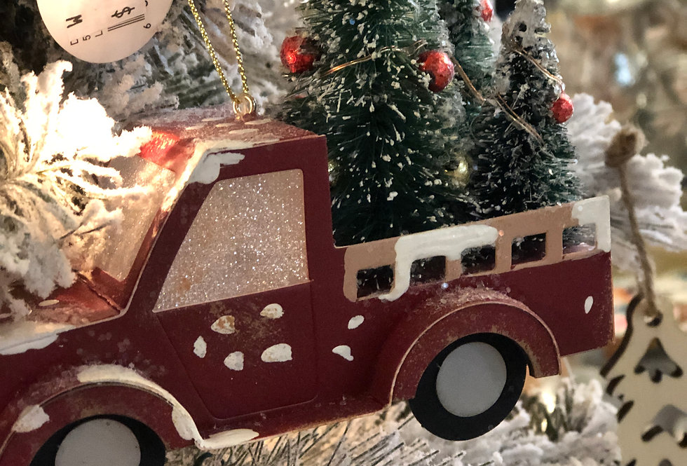 Red Truck Ornament - Lights Up