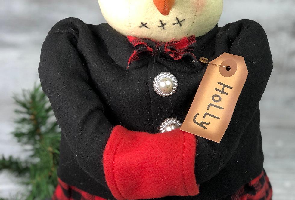 Holly Snowwoman Doll