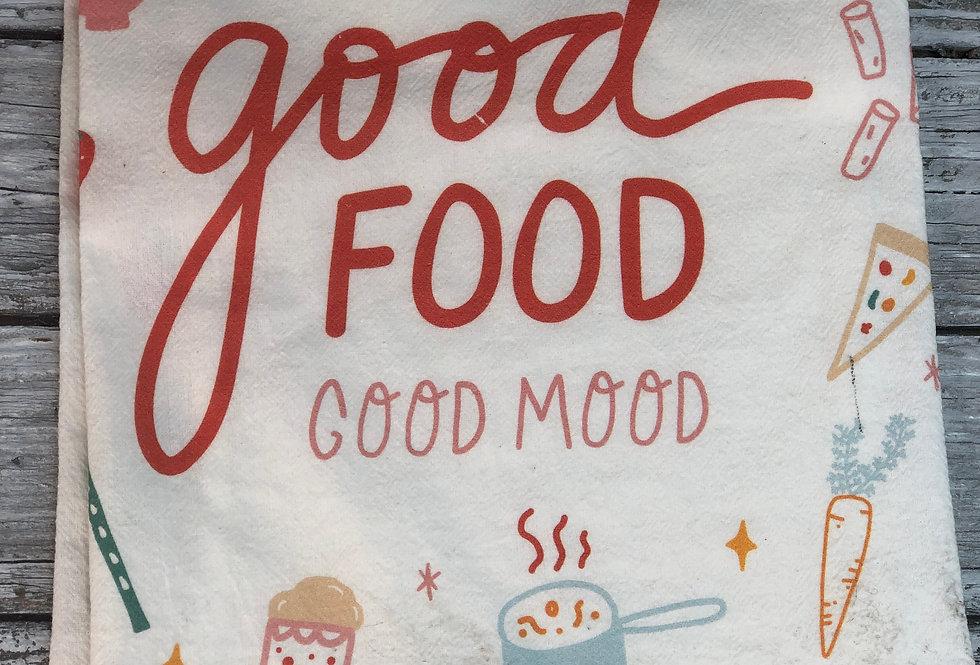 Good Food Good Mood Flour Sack Towel