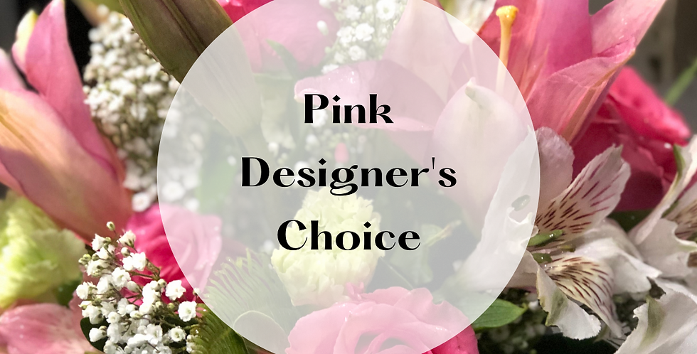 Pink Designer's Choice Arrangement