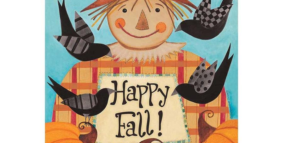Happy Fall Scarecrow Garden Flag