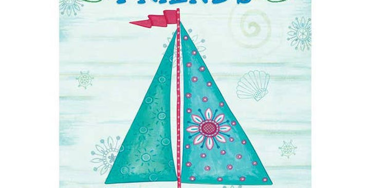 Garden Sailboat-Welcome Flag