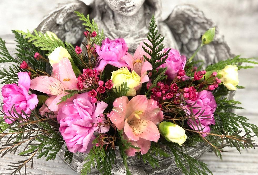 Wrapped in Angel Wings + Flowers