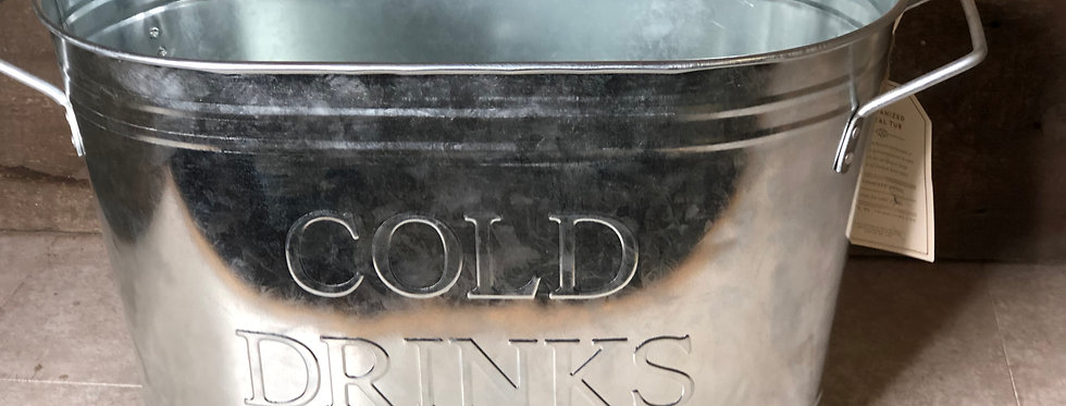Cold Drinks Galvanized Tub