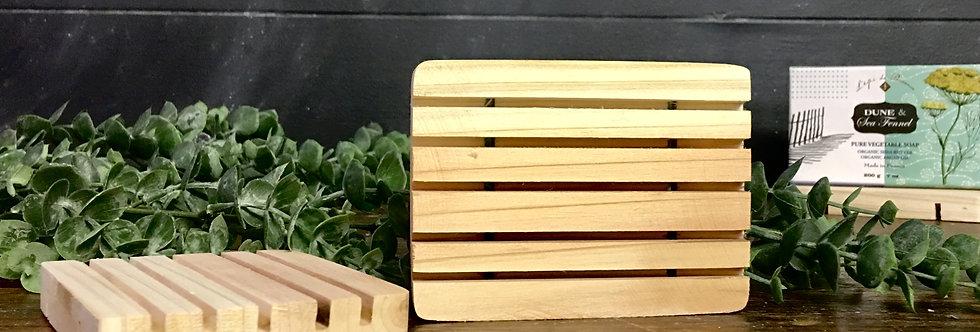 Wood soap holder / saber
