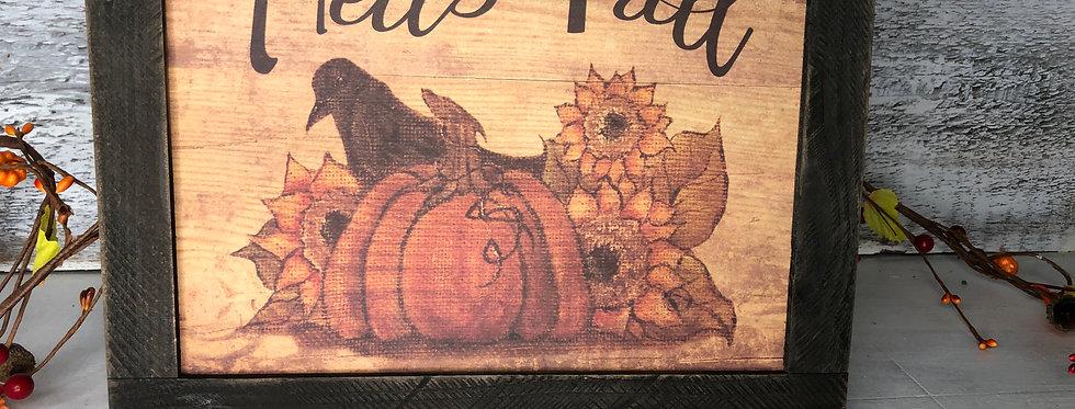 Pumpkin and Crow Hello Fall