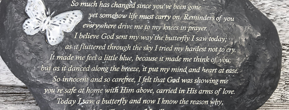 Today I Saw A Butterfly Plaque