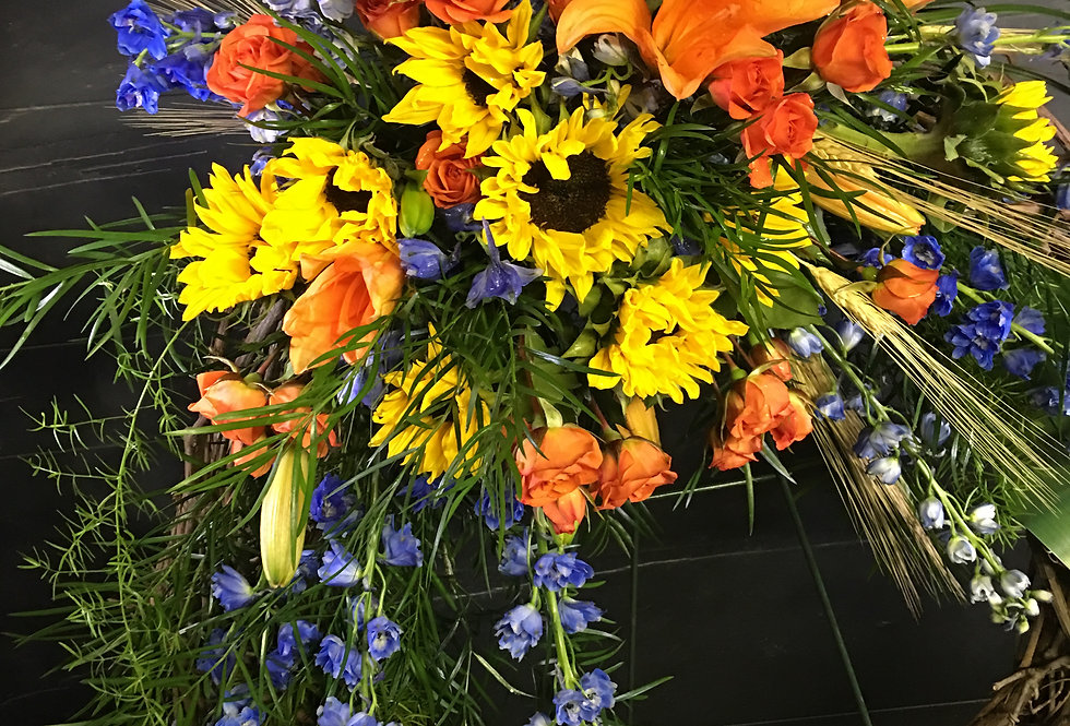Sympathy Grapevine Wreath
