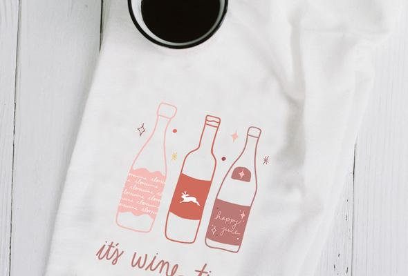 It's Wine Time Towel