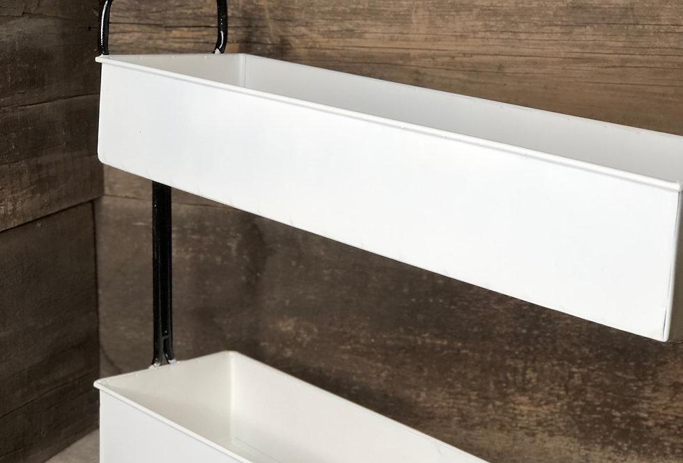 Two Tier Farmhouse Stacked Shelf